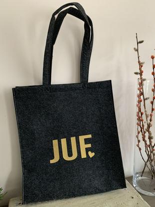 Afbeeldingen van Vilten tas - Juf