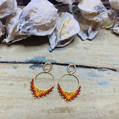 Afbeeldingen van Hanger Miyuki Gold&Orange