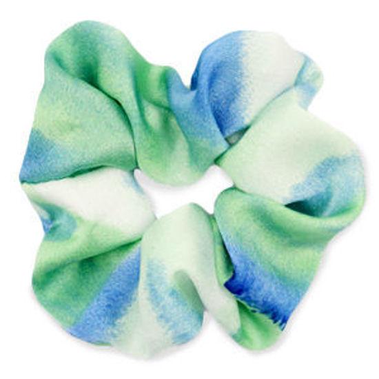 Afbeeldingen van Scrunchie Silky Green-Blue