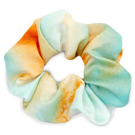 Afbeeldingen van Scrunchie Silky Tuquoise-Orange