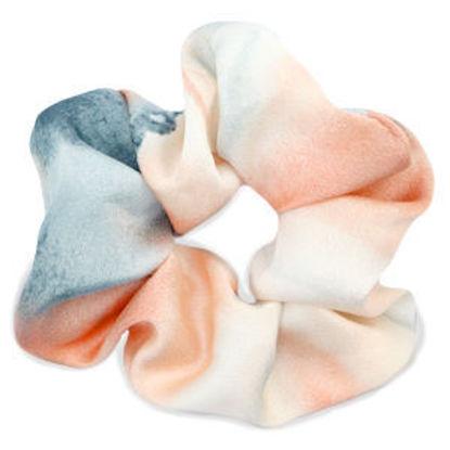 Afbeeldingen van Scrunchie Silky Peach-Blue