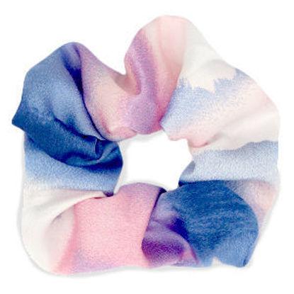 Afbeeldingen van Scrunchie Silky Pink-Blue